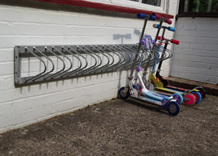 School Scooter Rack