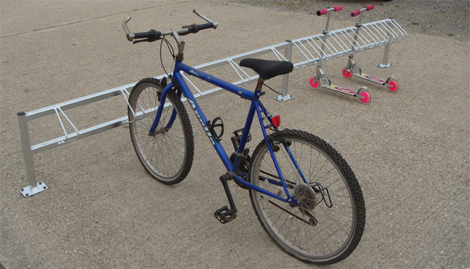 Combination Children S Bike And Scooter Storage Racks For